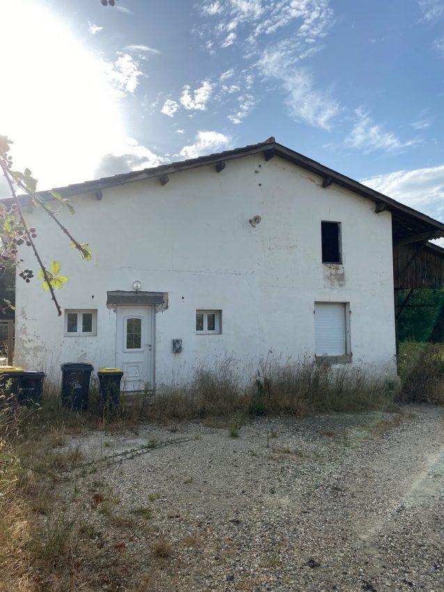 Samazan – Ensemble immobilier en campagne (Vendu loué), proche sortie autoroute Marmande  A62